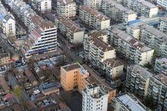Alloggio misto dell'appartamento di vista aerea alla Cina Fotografia Stock Libera da Diritti