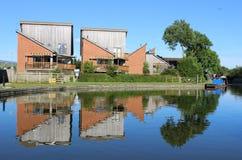 Alloggio moderno dal canale di Lancaster a Garstang Fotografie Stock Libere da Diritti
