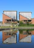 Alloggio moderno dal canale di Lancaster a Garstang Fotografia Stock