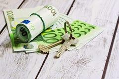 Alloggio o concetto di pagamento di affitto Fotografia Stock Libera da Diritti