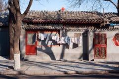 Alloggio a pochi piani tradizionale del hutong, Pechino Immagine Stock Libera da Diritti