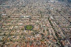 Alloggio residenziale denso a Los Angeles del sud Fotografia Stock Libera da Diritti