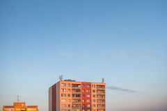Alloggio residenziale in una città Fotografia Stock
