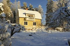 Alloggio svedese Fotografia Stock