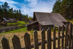 Alloggio tradizionale delle popolazioni autoctone della Lituania Fotografia Stock Libera da Diritti