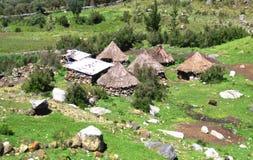 Alloggio tradizionale nell'Alto-elevazione Perù Fotografie Stock Libere da Diritti