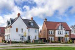 Alloggio urbano nel sud dell'Inghilterra Immagini Stock Libere da Diritti