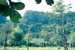 Alloggio, Vang Vieng - immagine di riserva Immagini Stock Libere da Diritti