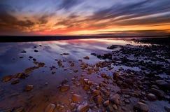 Allonby Sonnenuntergang Stockfoto