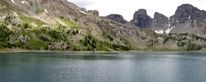 Allos lake Stock Photography