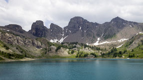 Allos lake Royalty Free Stock Image