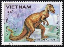 Allosauro animale preistorico, circa 1984 Immagine Stock Libera da Diritti