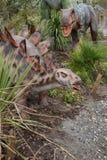 Allosauro e stegosauro Immagini Stock Libere da Diritti