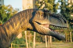 Allosauro a Novi Sad Dino Park Fotografia Stock