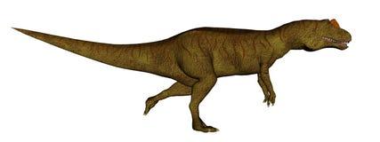 Allosaurus dinosaur running - 3D render Stock Image