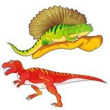 Allosaurus-edaphosaurus. Cute Dinosaurs vector cartoon allosaurus-edaphosaurus Stock Photos