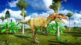 Allosaurus fragilis Immagini Stock