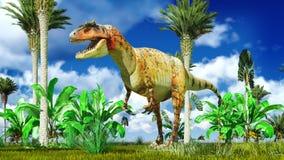 Allosaurus fragilis Immagini Stock Libere da Diritti