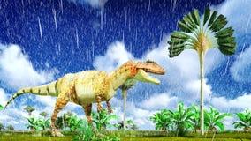 Allosaurus fragilis Fotografia Stock Libera da Diritti