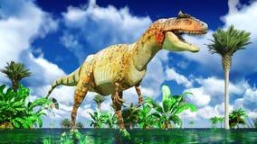 Allosaurus fragilis Fotografie Stock Libere da Diritti