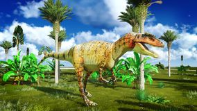Allosaurus fragilis Stock Images