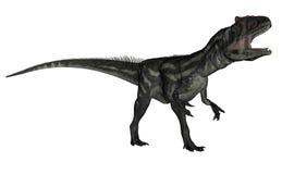 Allosaurusdinosaurie som vrålar - 3D framför vektor illustrationer