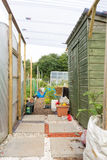 Allotment buildings Stock Image