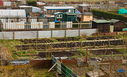 Allotment plots in rows Royalty Free Stock Images