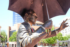 Allow Me, by John Seward Johnson II, in Pioneer Courthouse Squar Royalty Free Stock Photography