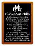 Allowance rules. Weekly allowance rules for children Royalty Free Stock Image