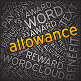 Allowance,Word cloud art background Royalty Free Stock Image