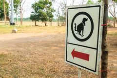 Allowed Dog Poop Zone Sign. Outdoor in the park royalty free stock photos