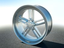 Alloy automotive disc or wheel. Large resolution Royalty Free Stock Photos