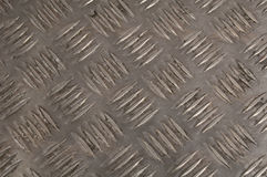 Alloy chequer plate Stock Image