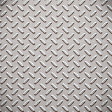 Alloy diamond plate metal Stock Images
