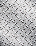 Alloy diamond plate metal Stock Image
