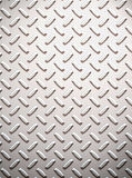 Alloy diamond plate metal Stock Photography