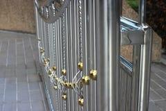 Alloy door to luxury and  strength. Alloy door to luxury and  strength Royalty Free Stock Photography