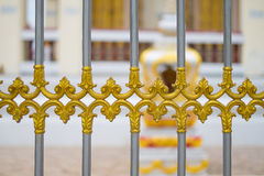 Alloy fence door pattern classic style. Royalty Free Stock Image