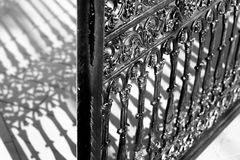 Alloy gate. In black and white Stock Image