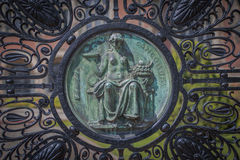 Alloy gates of the Peace Palace  in The Hague Stock Images
