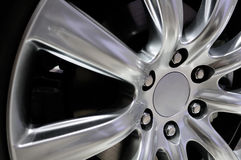 A-alloy hub. Details of an aluminum alloy hub for automobiles Royalty Free Stock Photos