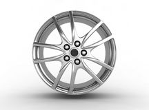 Alloy rim - 3d render. Alloy rim on the white background - 3d render Royalty Free Stock Image