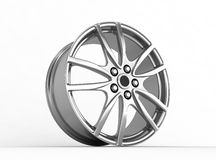 Alloy rim - 3d render. Alloy rim on the white background - 3d render Royalty Free Stock Images
