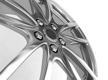 Alloy rim - 3d render. Alloy rim on the white background - 3d render Royalty Free Stock Photo