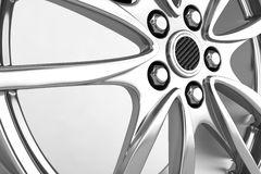 Alloy rims - 3d render. Alloy rims on the white background - 3d render Royalty Free Stock Images