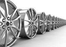 Alloy rims - 3d render. Alloy rims on the white background - 3d render Stock Photography