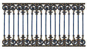 Alloy steel gate pattern. On white backround Stock Image