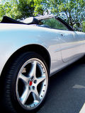 Alloy Wheel. Concept photo of a classic sports car Royalty Free Stock Image