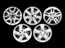Alloy wheel isolated on black background Royalty Free Stock Photography